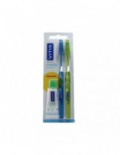Vitis Cepillo dental medio 2U